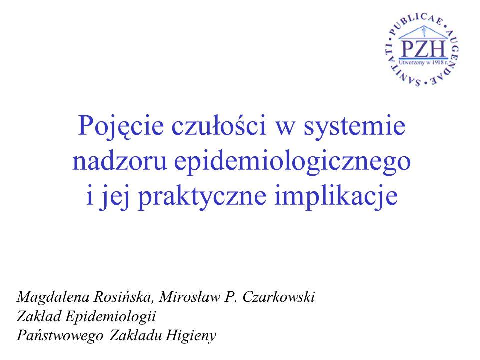 Pojęcie czułości w systemie nadzoru epidemiologicznego i jej praktyczne implikacje