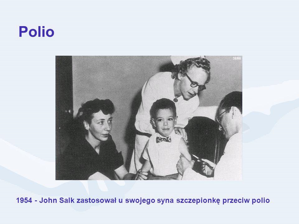 Polio 1954 - John Salk zastosował u swojego syna szczepionkę przeciw polio