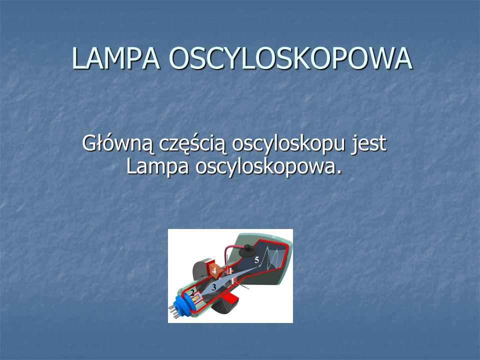 Główną częścią oscyloskopu jest Lampa oscyloskopowa.