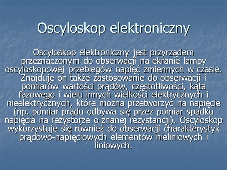 Oscyloskop elektroniczny