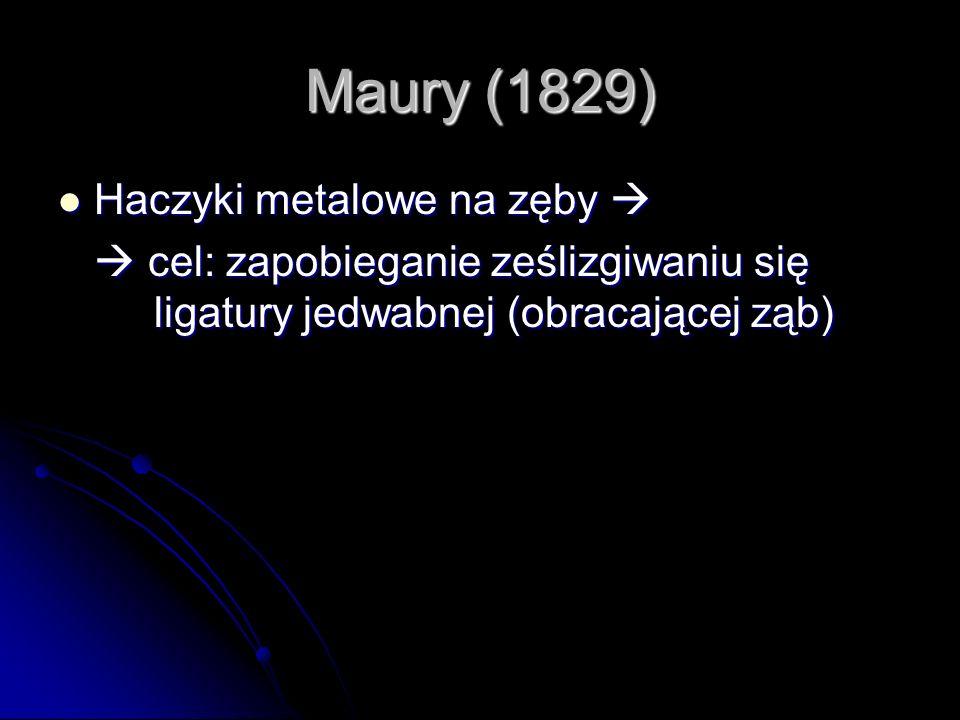 Maury (1829) Haczyki metalowe na zęby 