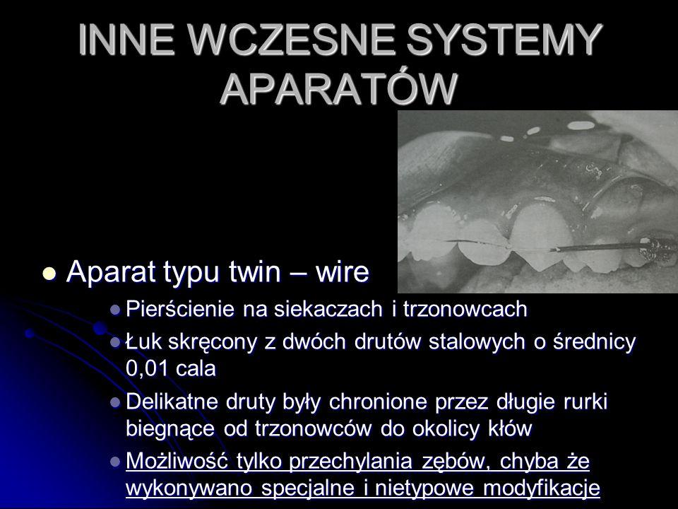 INNE WCZESNE SYSTEMY APARATÓW