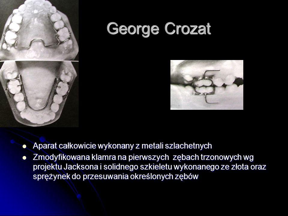 George Crozat Aparat całkowicie wykonany z metali szlachetnych