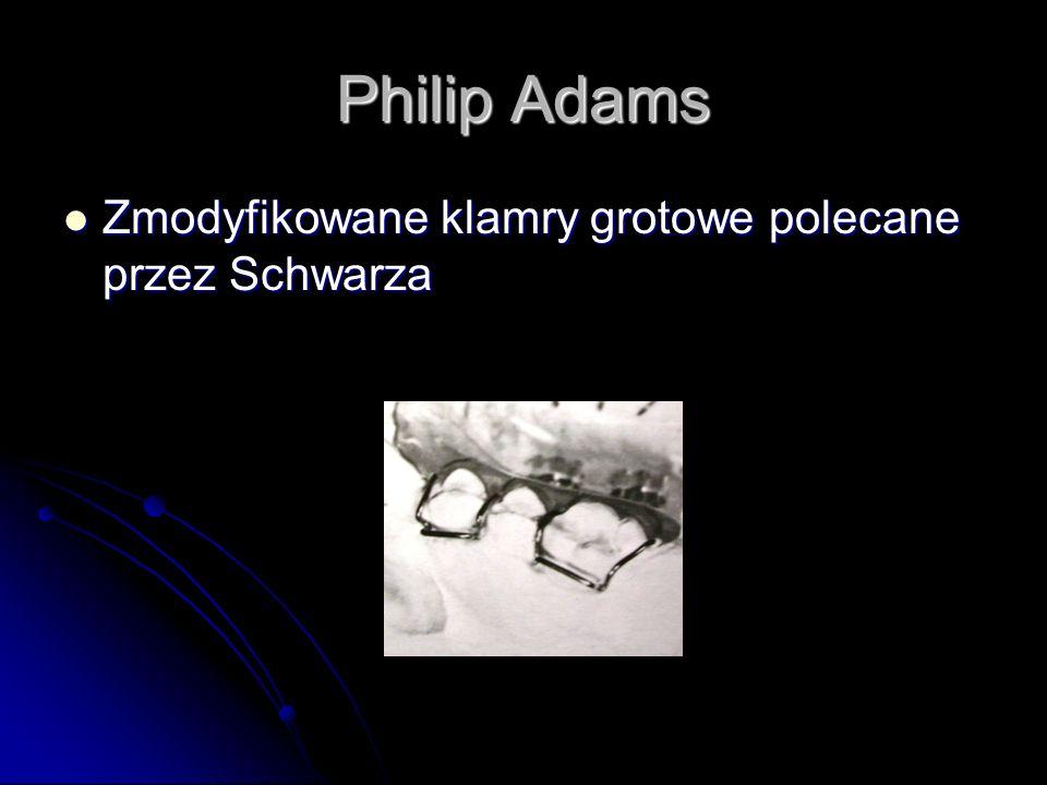 Philip Adams Zmodyfikowane klamry grotowe polecane przez Schwarza