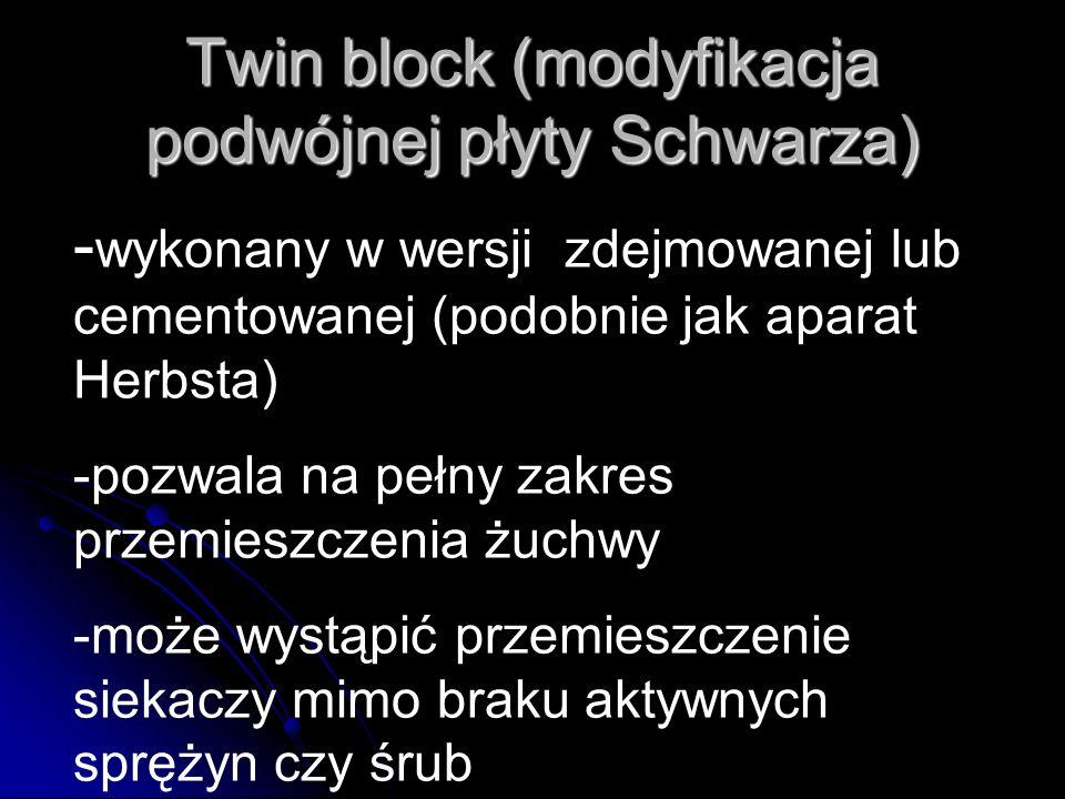 Twin block (modyfikacja podwójnej płyty Schwarza)