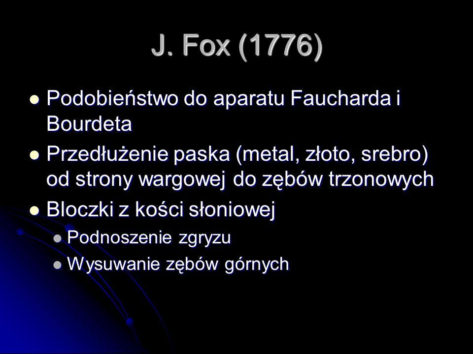 J. Fox (1776) Podobieństwo do aparatu Faucharda i Bourdeta