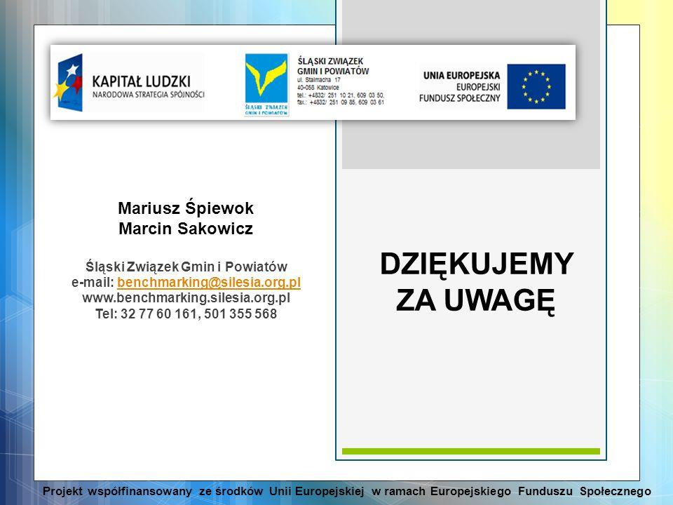 Śląski Związek Gmin i Powiatów e-mail: benchmarking@silesia.org.pl