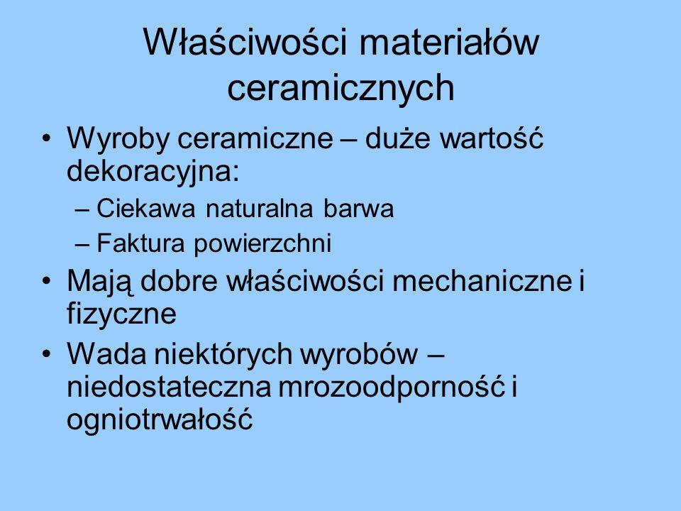 Właściwości materiałów ceramicznych