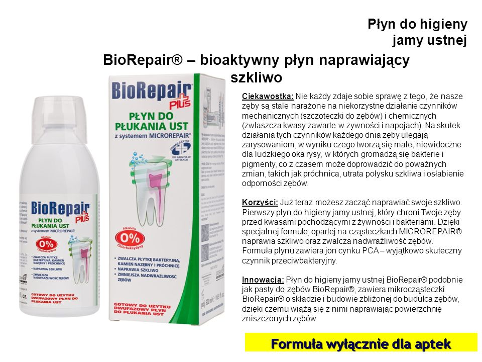 BioRepair® – bioaktywny płyn naprawiający szkliwo