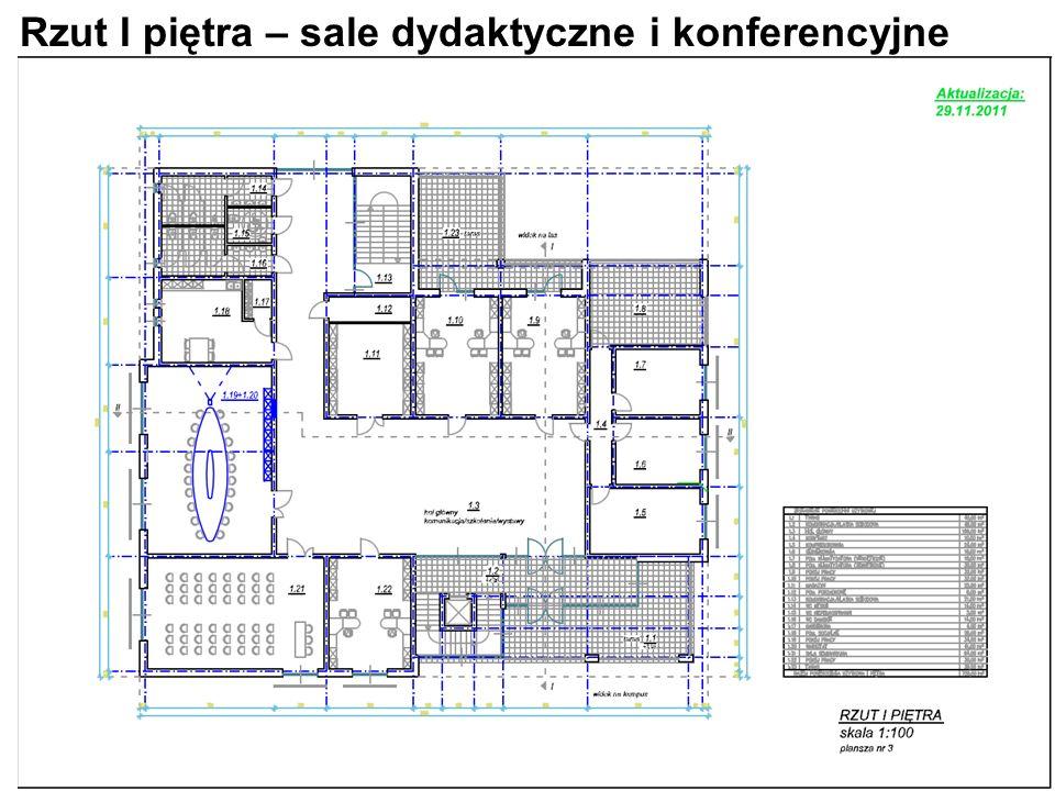 Rzut I piętra – sale dydaktyczne i konferencyjne