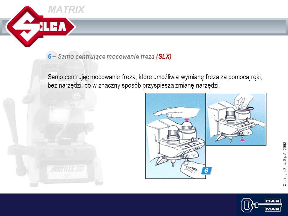 MATRIX 6 – Samo centrujące mocowanie freza (SLX)