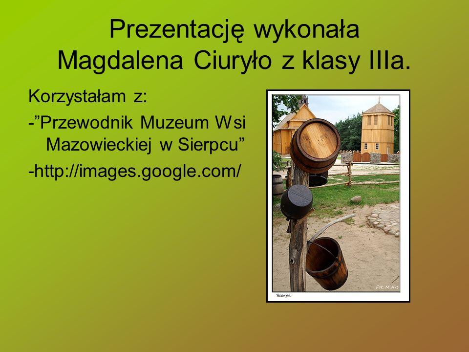 Prezentację wykonała Magdalena Ciuryło z klasy IIIa.