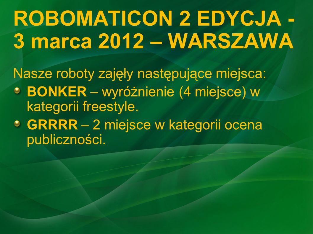 ROBOMATICON 2 EDYCJA - 3 marca 2012 – WARSZAWA