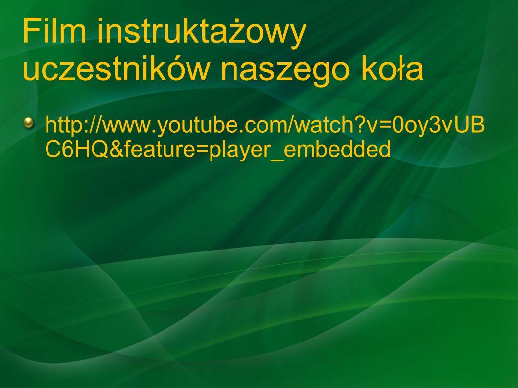 Film instruktażowy uczestników naszego koła