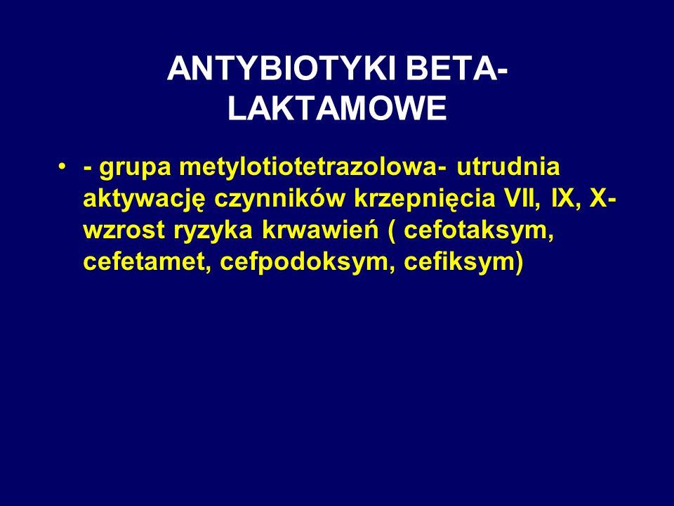 ANTYBIOTYKI BETA-LAKTAMOWE