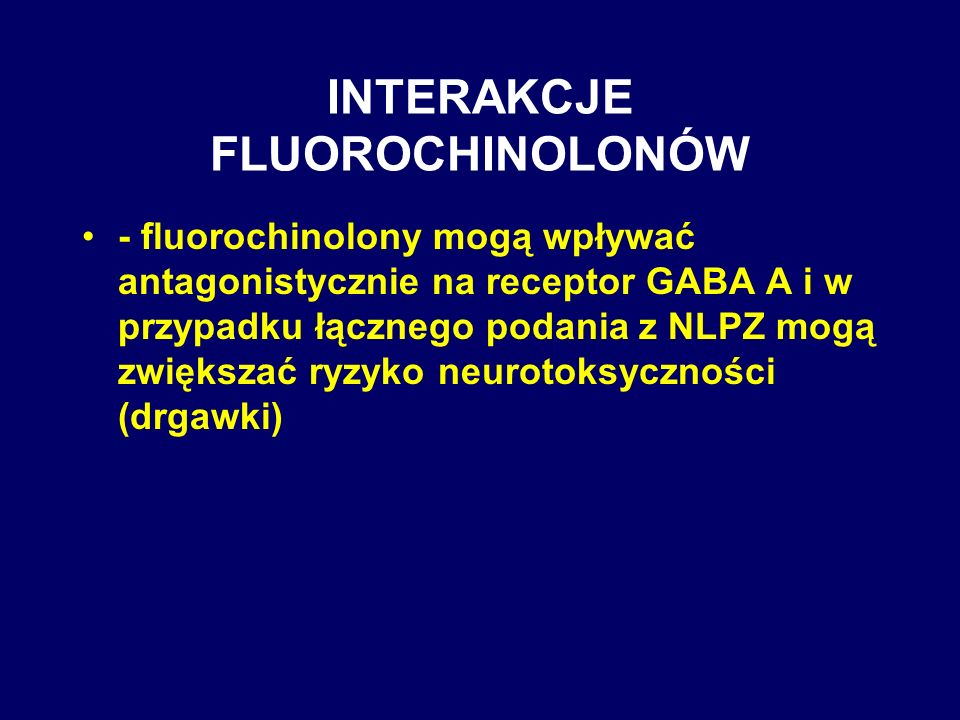 INTERAKCJE FLUOROCHINOLONÓW