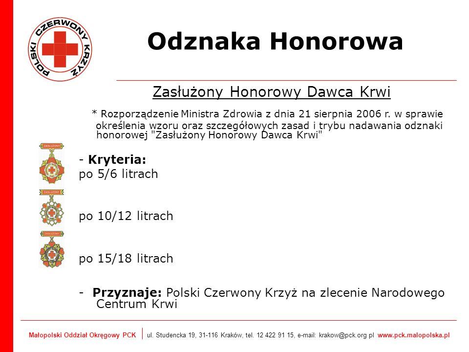 Zasłużony Honorowy Dawca Krwi