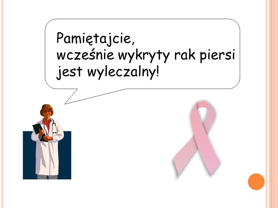 Pamiętajcie, wcześnie wykryty rak piersi jest wyleczalny!