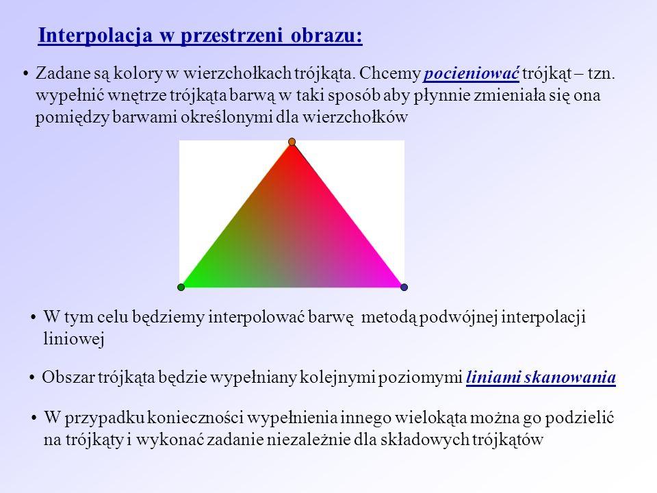 Interpolacja w przestrzeni obrazu: