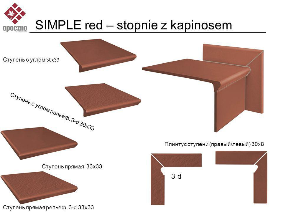 SIMPLE red – stopnie z kapinosem