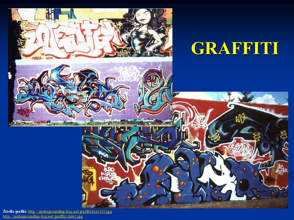 GRAFFITIŹródło grafiki: http://undergroundhip-hop.net/graffiti/kyro103.jpg.