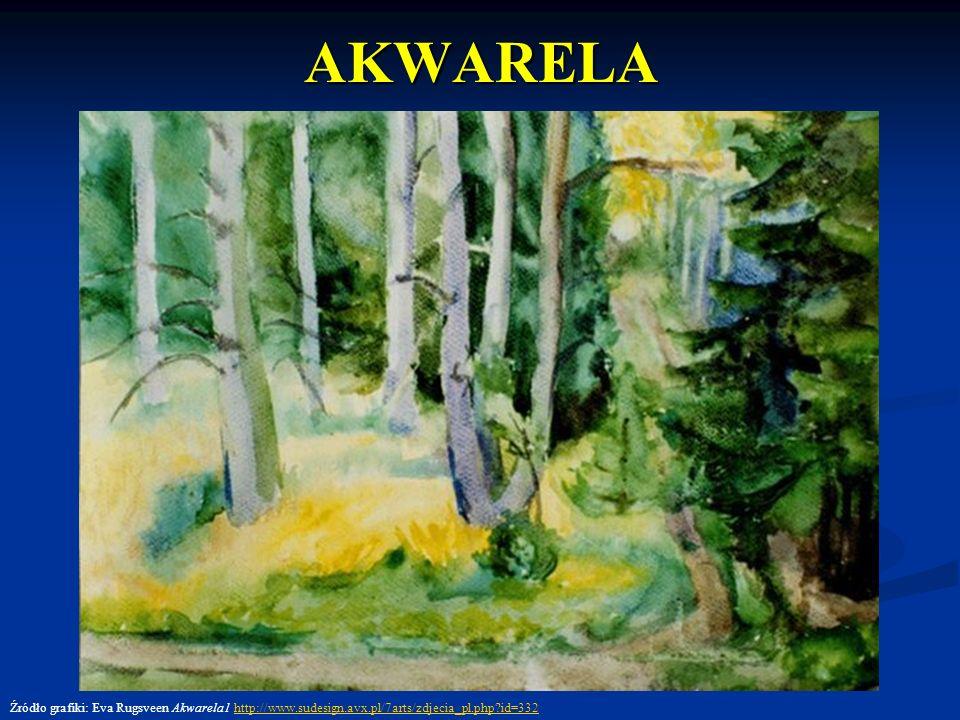 AKWARELA Źródło grafiki: Eva Rugsveen Akwarela1 http://www.sudesign.avx.pl/7arts/zdjecia_pl.php id=332.