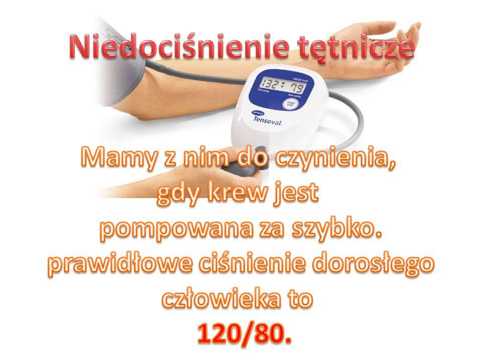 Niedociśnienie tętnicze prawidłowe ciśnienie dorosłego