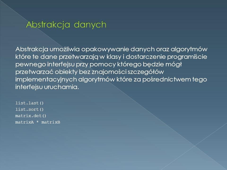 Abstrakcja danych