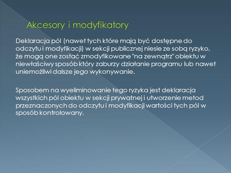 Akcesory i modyfikatory