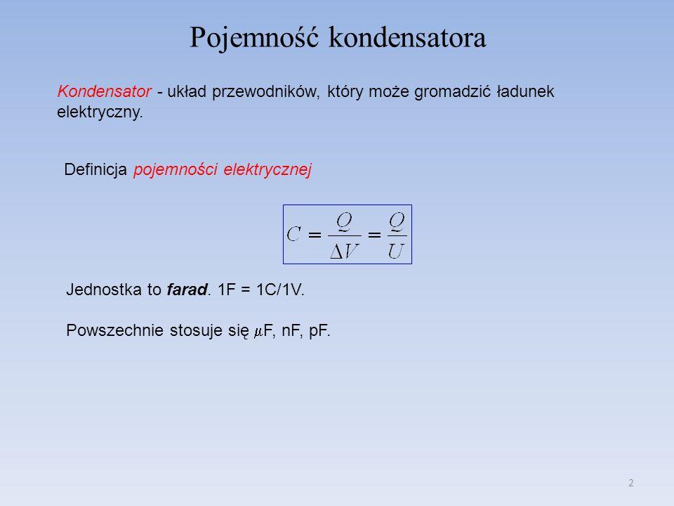 Pojemność kondensatora
