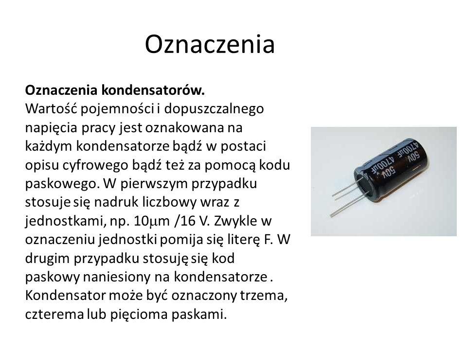 Oznaczenia Oznaczenia kondensatorów.