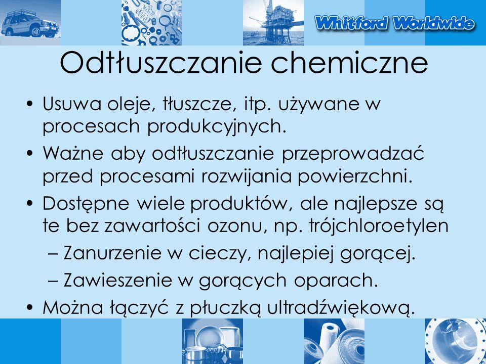 Odtłuszczanie chemiczne