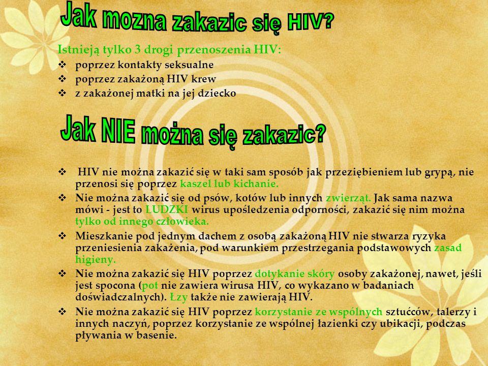 Jak mozna zakazic się HIV