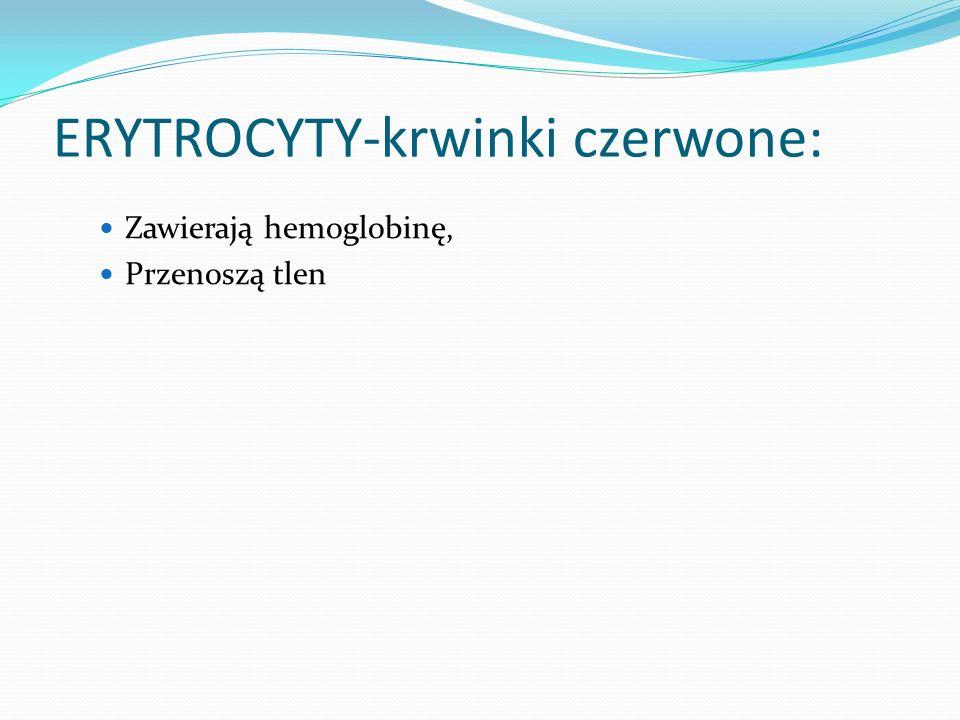 ERYTROCYTY-krwinki czerwone: