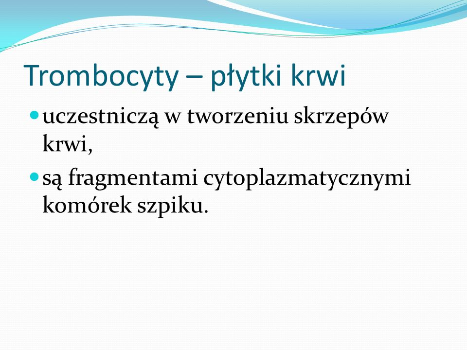 Trombocyty – płytki krwi