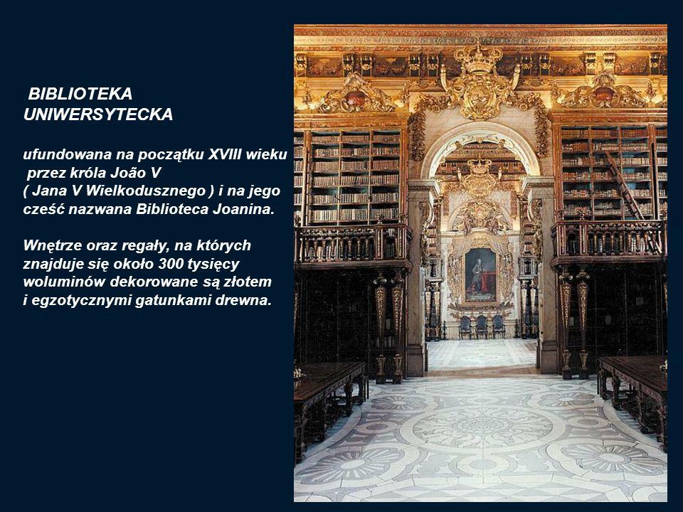 BIBLIOTEKA UNIWERSYTECKA ufundowana na początku XVIII wieku