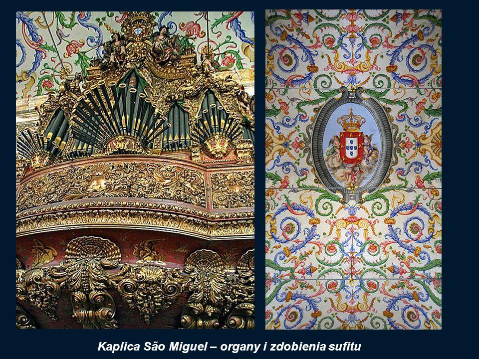 Kaplica São Miguel – organy i zdobienia sufitu