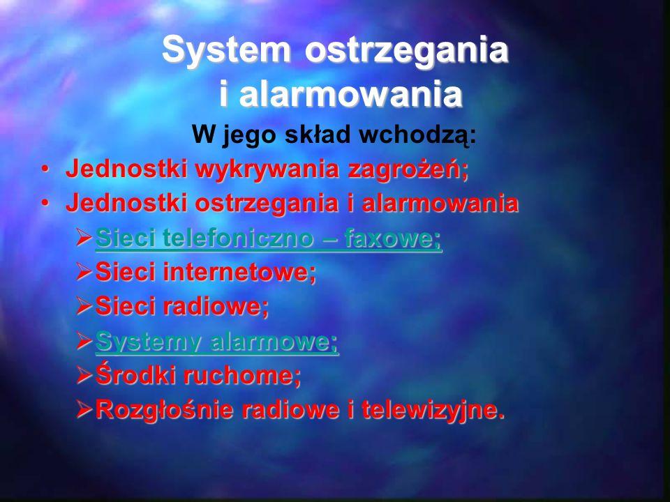 System ostrzegania i alarmowania
