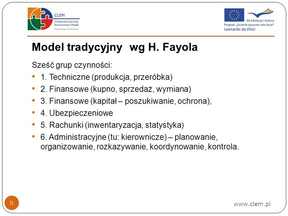 Model tradycyjny wg H. Fayola