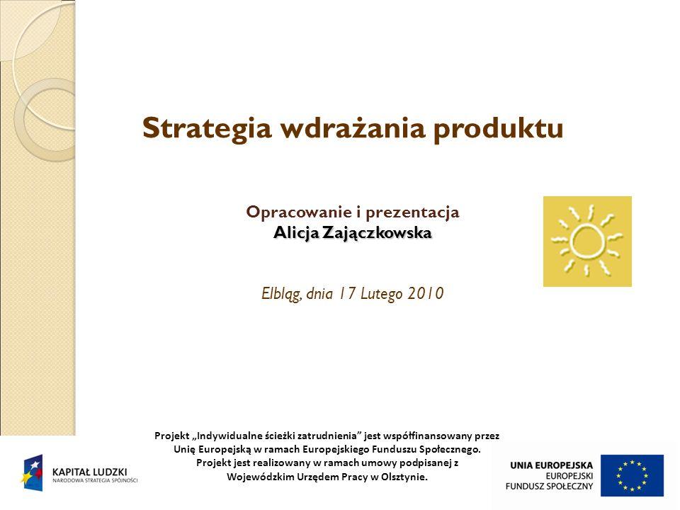 Strategia wdrażania produktu Opracowanie i prezentacja