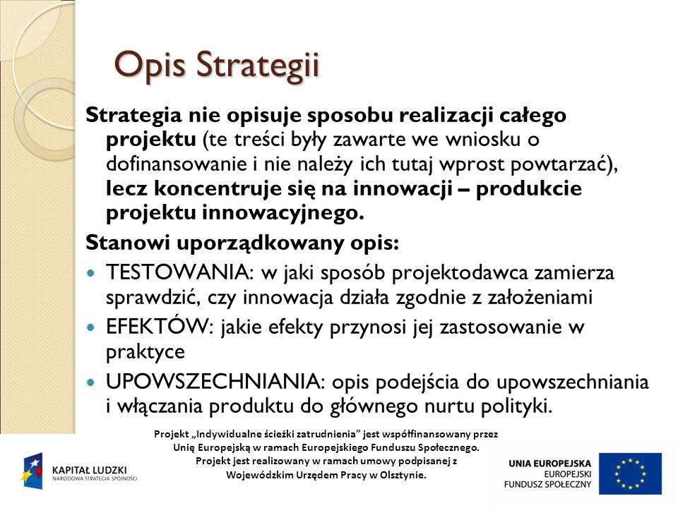 Opis Strategii