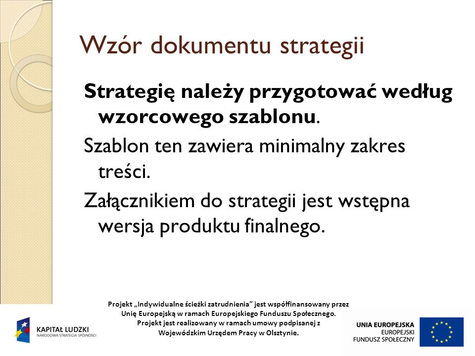 Wzór dokumentu strategii