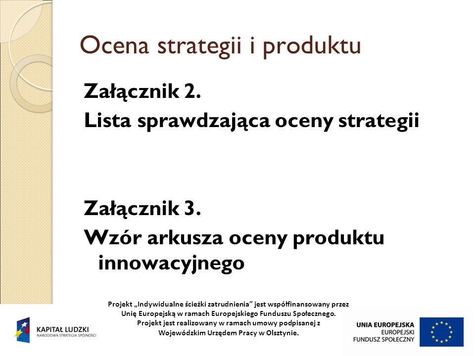 Ocena strategii i produktu
