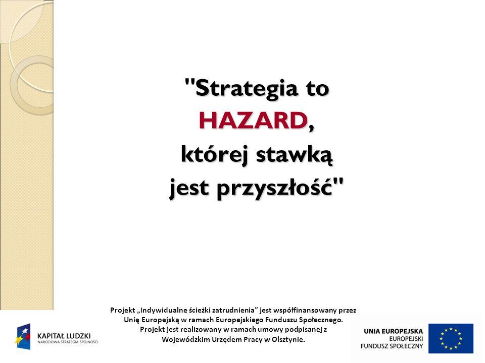 Strategia to HAZARD, której stawką jest przyszłość