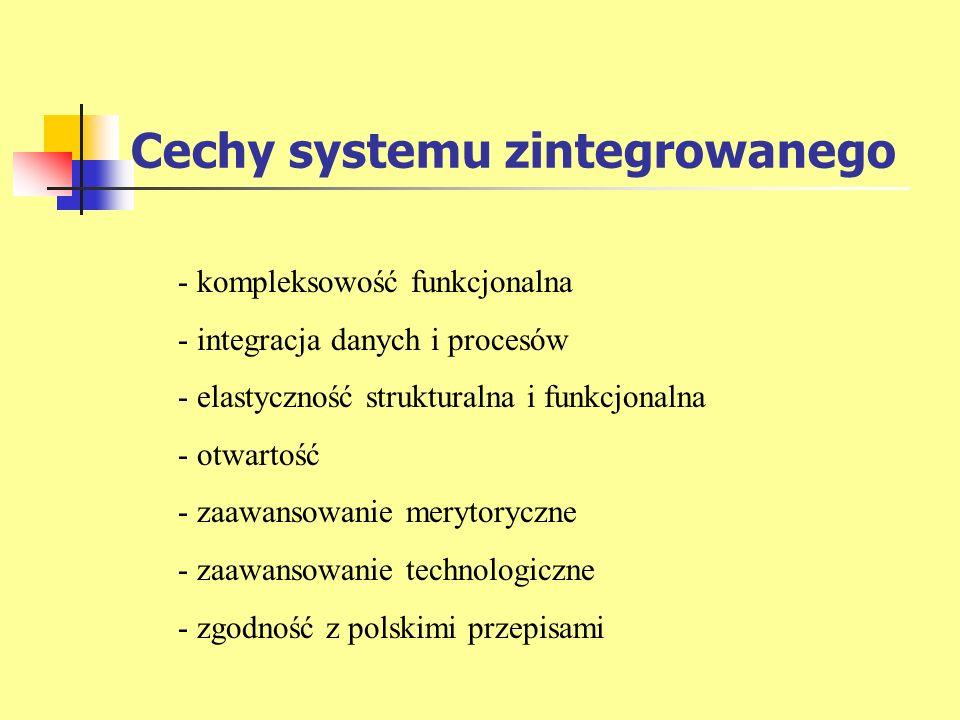 Cechy systemu zintegrowanego