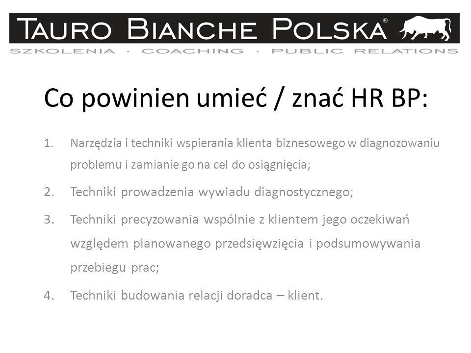 Co powinien umieć / znać HR BP: