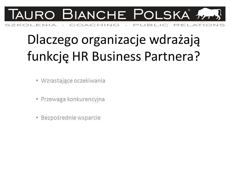 Dlaczego organizacje wdrażają funkcję HR Business Partnera