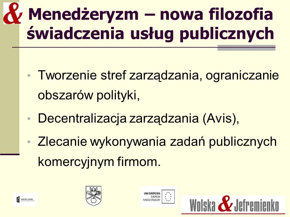 Menedżeryzm – nowa filozofia świadczenia usług publicznych
