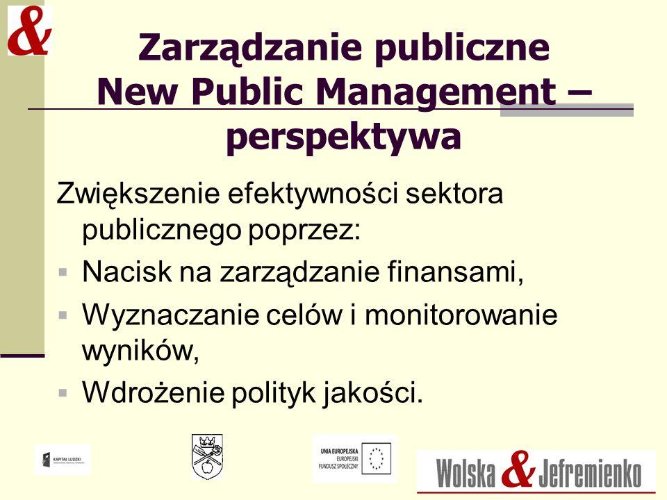 Zarządzanie publiczne New Public Management – perspektywa