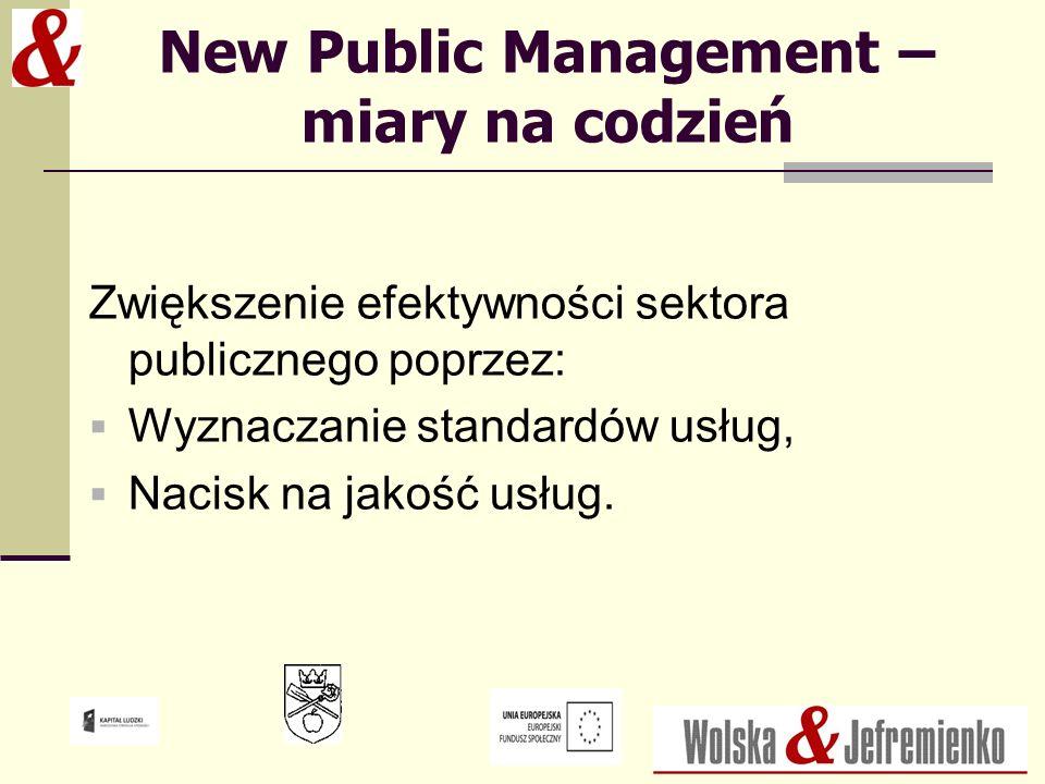 New Public Management – miary na codzień
